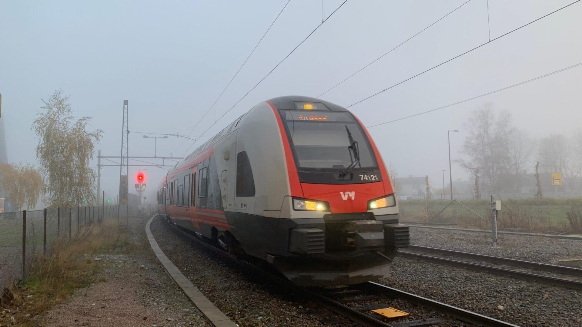 Dobbeltspor på Vestfoldbanen. Foto: Gunnar Ridderström